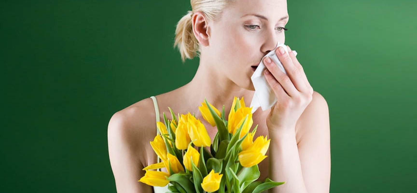 Девушка с аллергией на цветы
