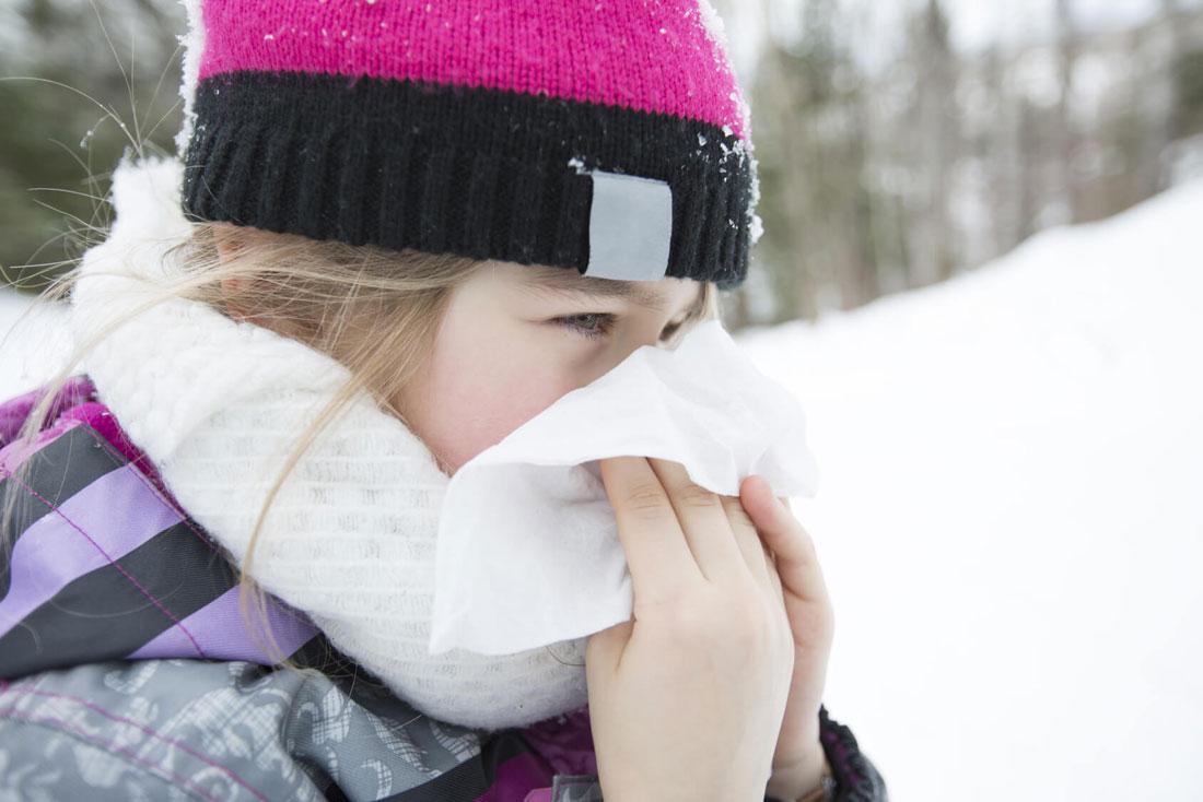 холодовая астма у девочки