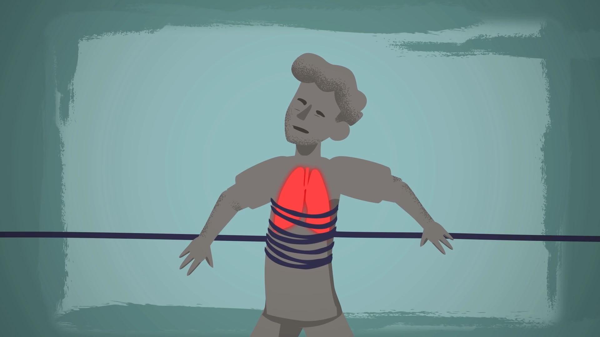 Человек с астмой
