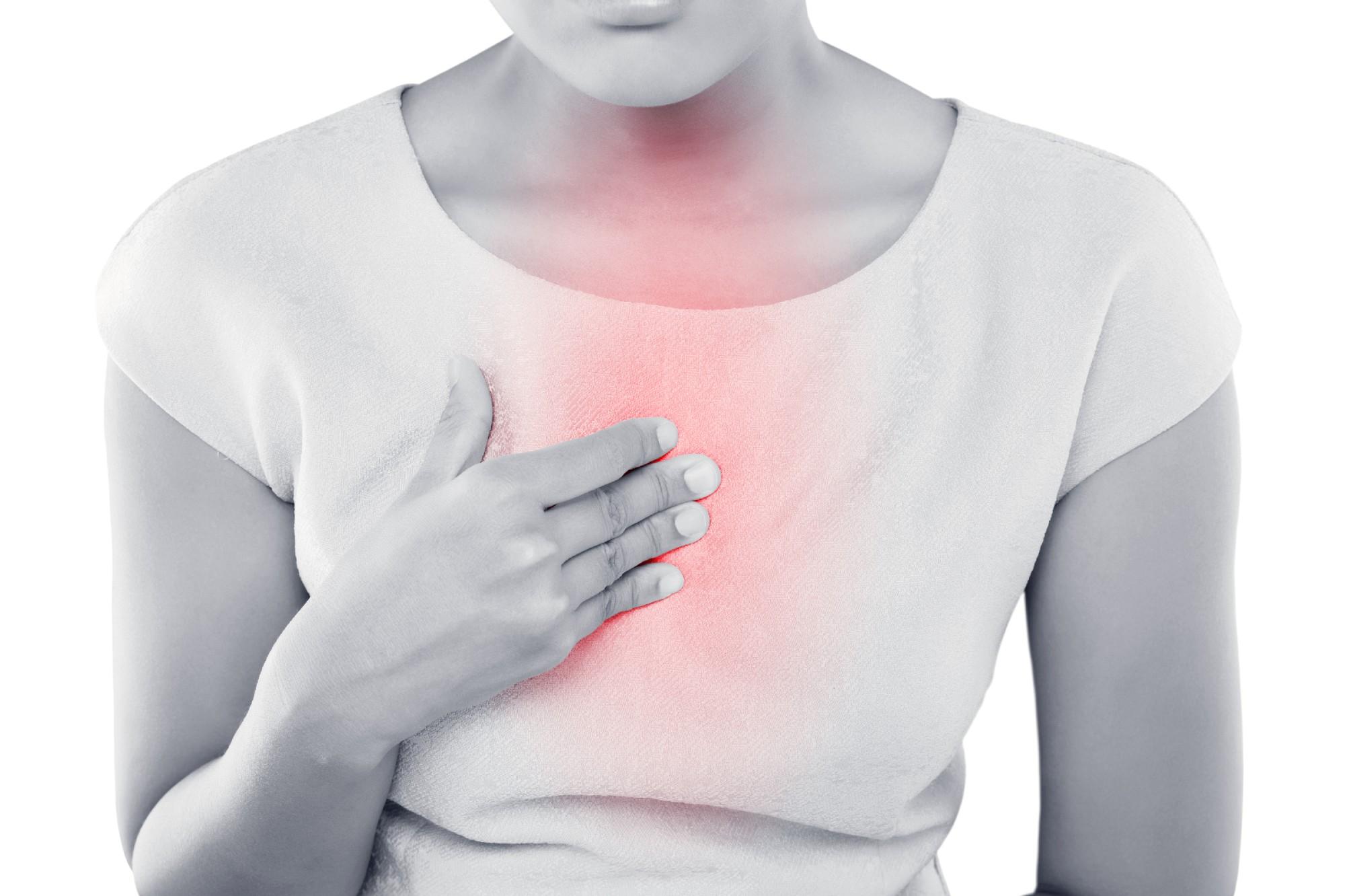 очаг боли в груди