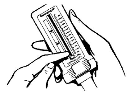пикфлоуметр в руках